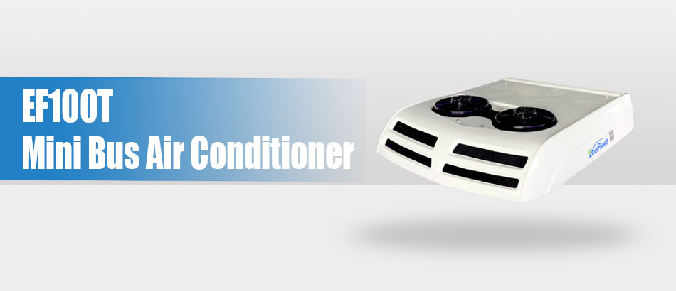 EcoFleet Release The China No.1 Battery Powered 10kw Mini Bus Air Conditioner